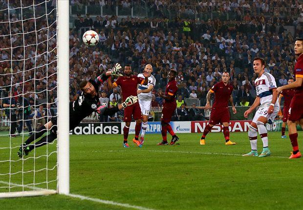 La rete iniziale di Robben, con una magia dell'Olandese