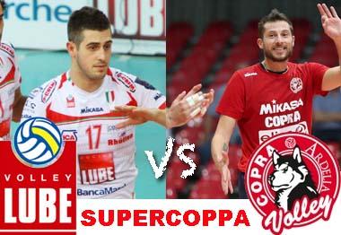 ( Supercoppa di volley con la gara tra la Lube Macerata e la Copra Piacenza / Raisport 1 ore 20.30)