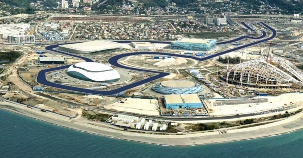 ( L'avveniristico circuito di Sochi, dove si correrà in F1 la prima volta /Libere Gp2 e Gpr3 dalle ore 14.00 su Sky  Formula 1).