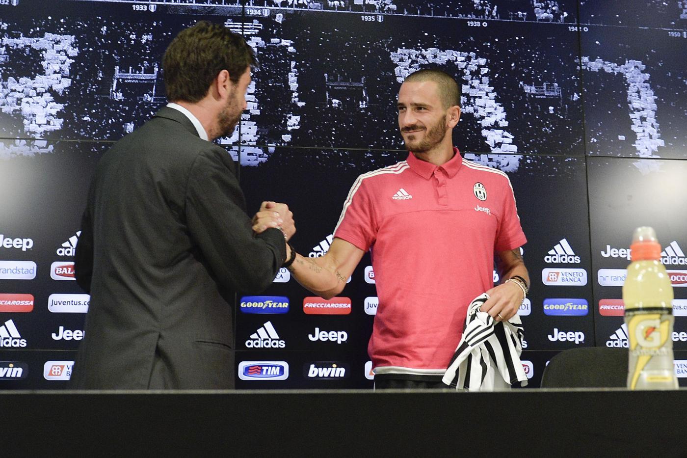 Juventus, conferenza stampa per il rinnovo di contratto di Leonardo Bonucci