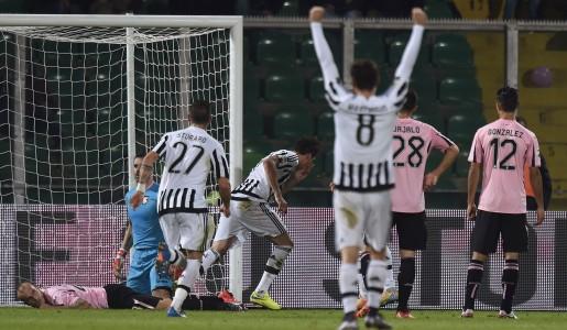 Serie A 14° giornata: Juve tris al Palermo, crisi nera per la Roma. Stasera è Napoli-Inter