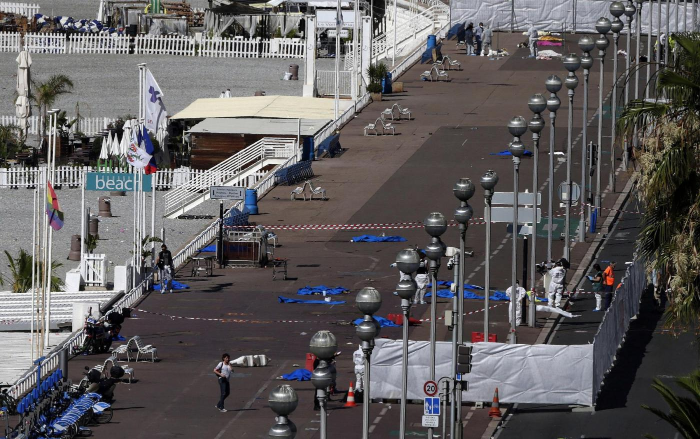Attentato terroristico a Nizza, il luogo della strage
